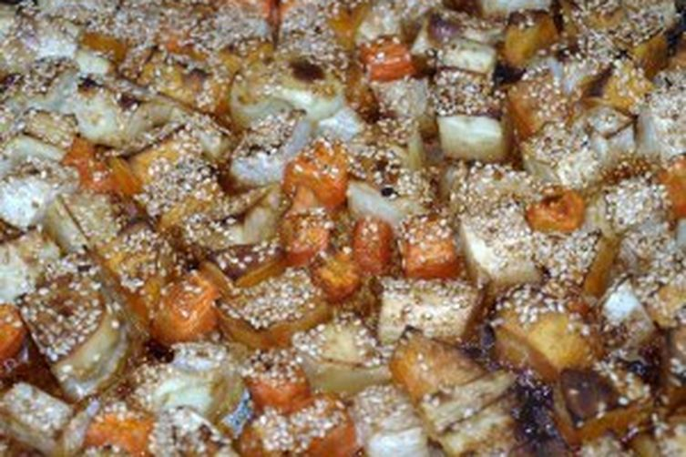 Sesame Roasted Root Vegetables