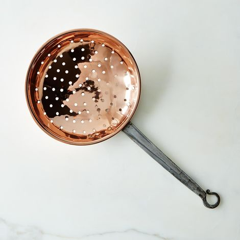 Vintage Copper French Strainer, Late 19th Century
