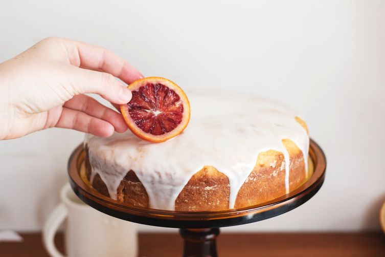 citrus and honey olive oil cake