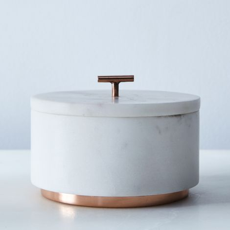 Marble & Metal Lidded Box