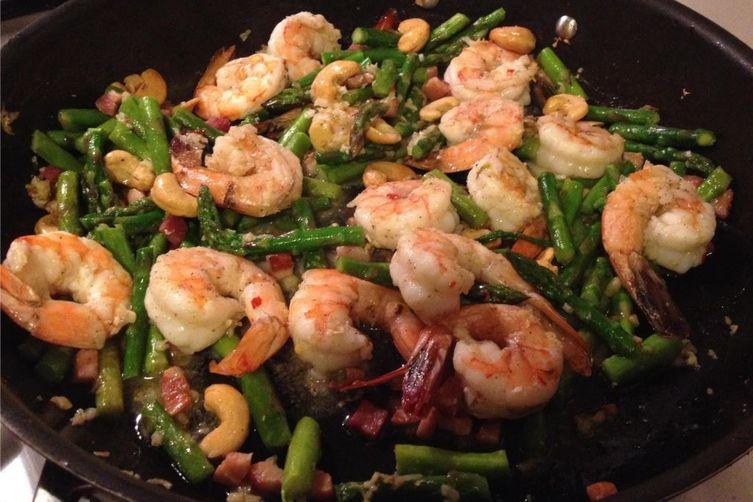 Shrimp Stir Fry with Asparagus