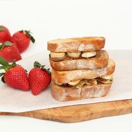 Grilled Almond Butter Honey Banana Sandwich