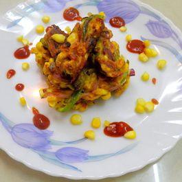 Schezuan Mix vegetables and corn pakoda