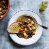 Tuscan Bean Soup With Pumpkin and Kale (Zuppa Frantoiana)