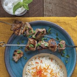 Lamb Kebabs in Pomegranate-Walnut Marinade