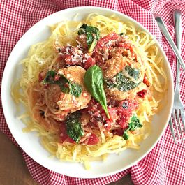 Turkey Veggie Meatballs With Spaghetti Squash