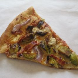 Bacon, Brussels Sprouts, and Blue Cheese Pizza