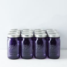 Purple Ball American Heritage Collection Quart Mason Jars (Set of 12)