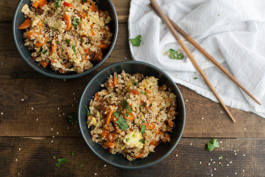 Vegetarian Carrot Fried Brown Rice