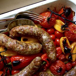Roasted Sausage, Tomatoes, and Peppers
