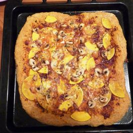Whole Wheat Pizza with Pumpkin