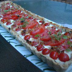 Summer Heirloom Tomato Tart with Herb Crust