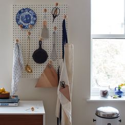 A Pegboard Wall DIY That Would Make Julia Child Proud