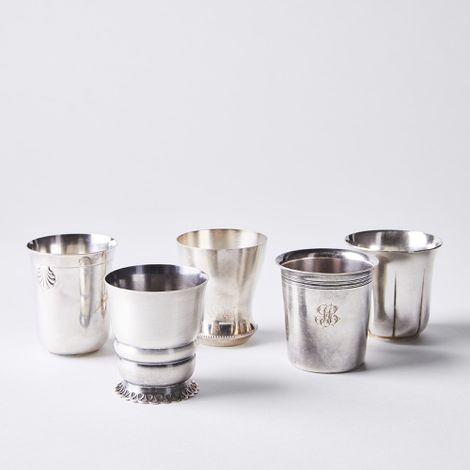 Vintage French Silver-Plated Christening Cup