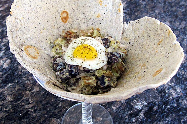 Southwestern Potato Salad with Chia Seeds Roasted Fingerlings and Poblano Aioli