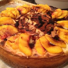Balsamic Peach Cheesecake