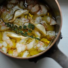 Olive Oil Poached Fish or Shellfish