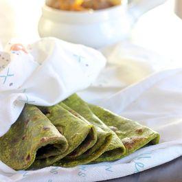 Spinach rotis(flatbread)