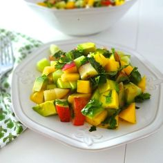 Mango Cucumber & Avocado Salad w/Honey-Lime Vinaigrette