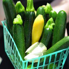Baby  Zucchini, Pesto, and Asparagus Gratin