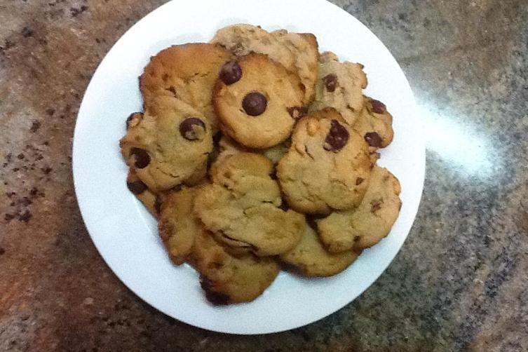 Peanut Butter, Chocolate Chip and Bacon Cookies
