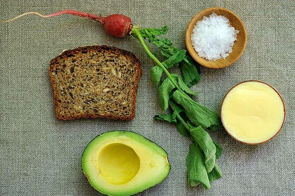 Toast with Mustard Mayo and Avocado
