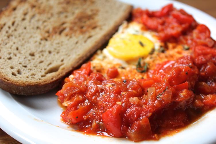 Shakshukeh: Tomato Skillet with Eggs