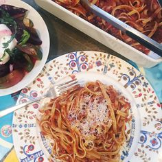Bacon and Eggplant Pasta