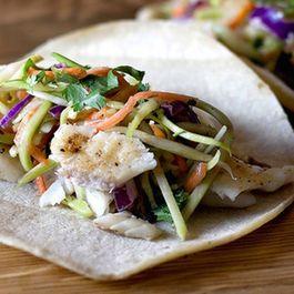 Broccoli Slaw Fish Tacos