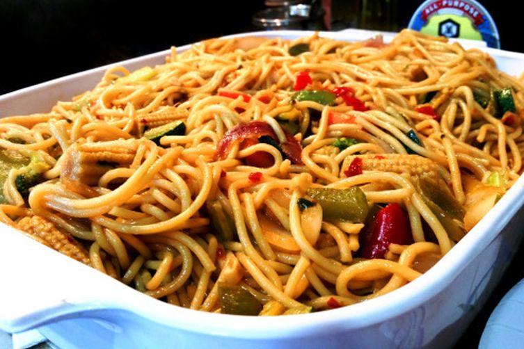 Spaghetti Style Veggie Chow Mein
