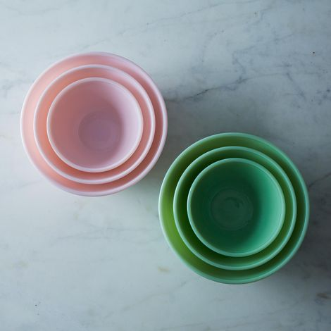 Jadeite Glass 3-Piece Mixing Bowl Set