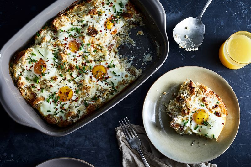 Jay Guerrero's Baked Eggs with Ricotta and Onions