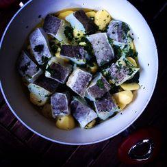 Ligurian Salt Cod and Potatoes