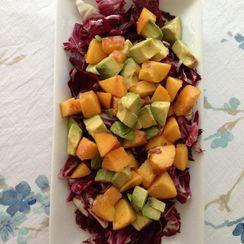 Tricolor Salad (Avocado, Radicchio and Peach)