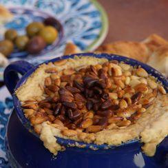 Warm Hummus with Pine Nuts