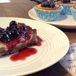 Blueberry and Baked Ricotta Cheesecake