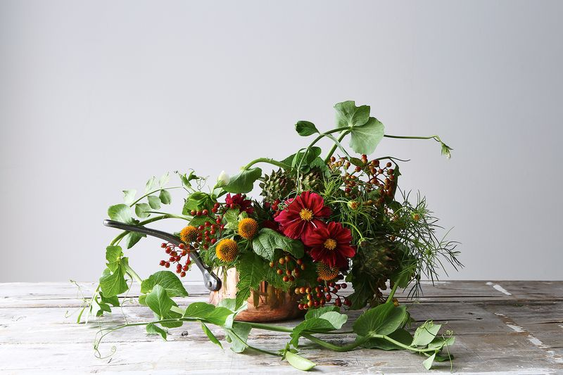 rustic flower arrangement by emily thompson