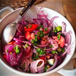 Roasted Eggplant & Beetroot Salad