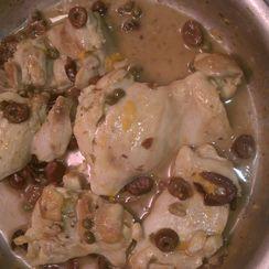 Chicken Thighs Glazed with Meyer Lemon and Kalamata Olives