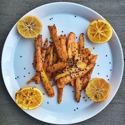 Sesame Pesto Roasted Carrots