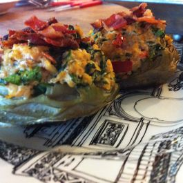 goat cheese & quinoa-stuffed artichoke heart bottoms