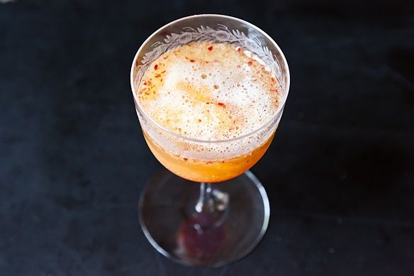 Honeyed Peach Melba Bellinis on Food52