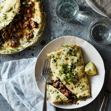 Thai-Style Omelet With Pork and Greens