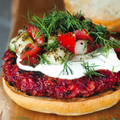 Louisa Shafia's Sweet and Smoky Beet Burgers