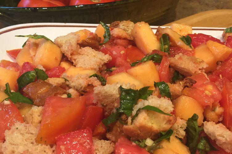 Tomato-Cantaloupe Panzanella