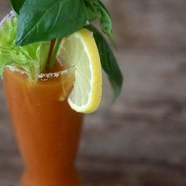 Spicy Basil Bloody Mary Mix
