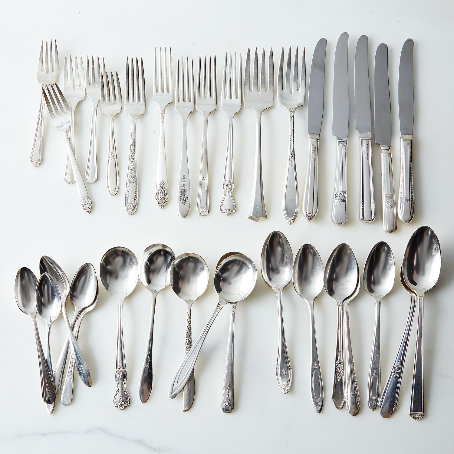 Vintage Silver Plated Eclectic Flatware Sets Of 4 On Food52