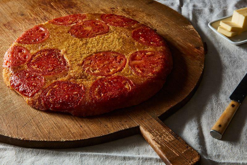 Tomato Upside-Down Cornbread