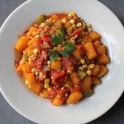 Mexican Butternut Squash and Corn Saute