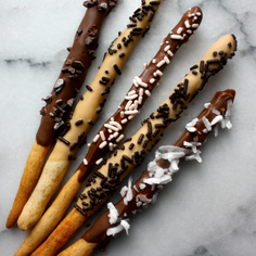 Homemade Biscoff and Nutella Pocky Sticks